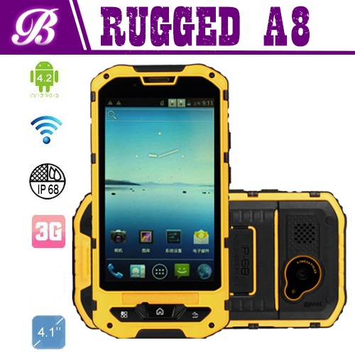 Rugged Tablet Camera Front 0.3MP Rear 5.0MP RAM 1G ROM 8G 800*480 GPS Wifi BT Android 4.2 3G 4inch Rugged Mobile Phone