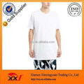 Customize men's long line bulk white t shirt