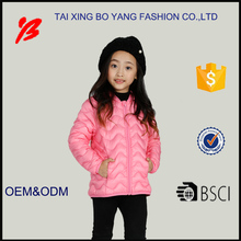 lightweight children embroidery duck down jackets for winter
