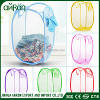 Basket Washing Bag Clothes Laundry Sorter Bin Mesh Storage Hamper Foldable