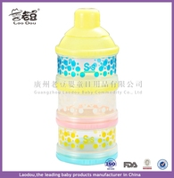 2016 solid plastic feeding bottle new sale baby powder milk box storage 3 boxes newborn food container