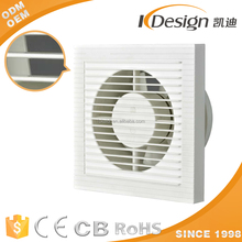 6/8/10/12 inch plastic shutter ventilation/exhaust/air fresh fan with grill/net