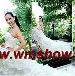 2011 Newest Design Front Short Long Back Wedding Dresses