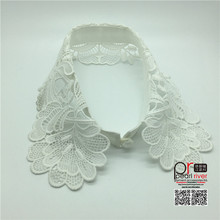 White color lace neck collar design for lady dress decoration lace collar trimming