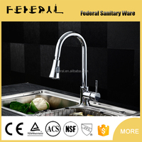 Chrome Plating Spring Kitchen Sink Mixer Faucet, Pull out Flexible Kitchen Mixer Taps