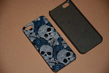 2015 newest fashion Skull design cell phone protector case For iPhone 5 5s