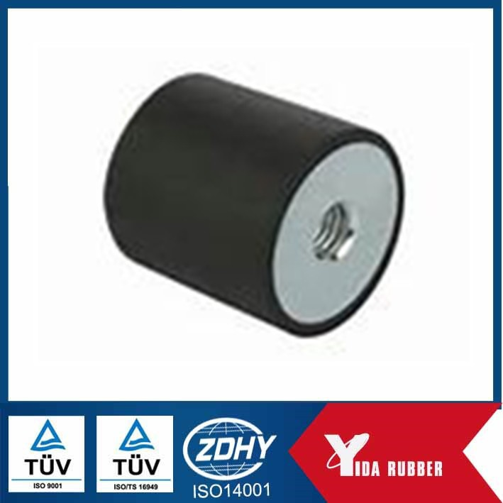 Custom ROHS&ISO approved metal bounded rubber shock absorber buffer