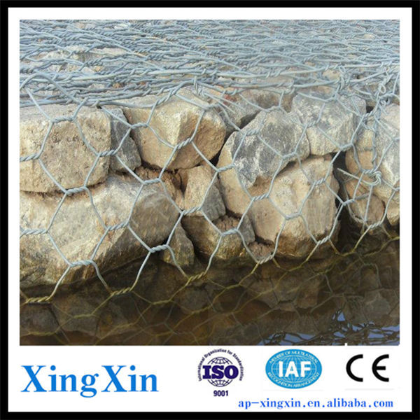 Anping slope fencing/ river regulation gabion wire mesh, rack box/basket wire mesh, hexagonal iron wire netting (R - 002)