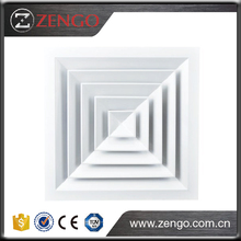 Used for the supply and exhaust of cooled and heated air CD-SA 4-Way Square Ceiling Diffuser