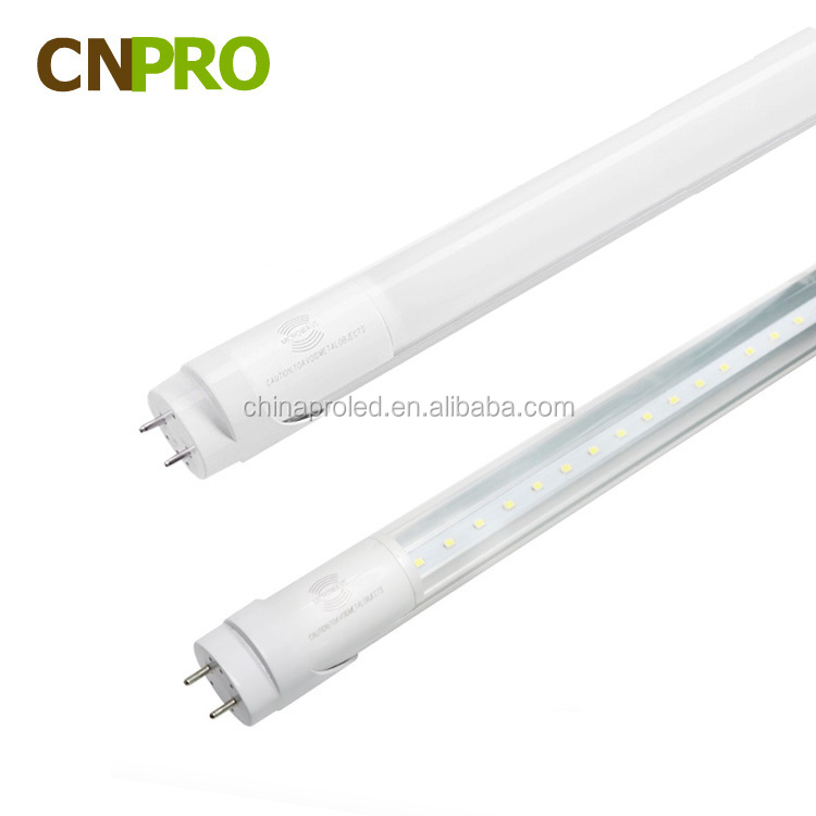 4ft Microwave led tube 9W,18W,23W T8 for underground garage led tube light with sensor