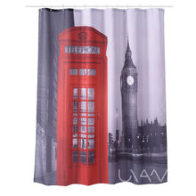 London Telephone Booth Pattern Waterproof Faric Custom Shower Curtain