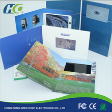 "2.4/4.3/5/7/10"" LCD Video Greeting Card/LCD Video Brochure/LCD Video Book for advertisement"