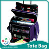 2017 purple color printed cheap travel bag trolley luggage