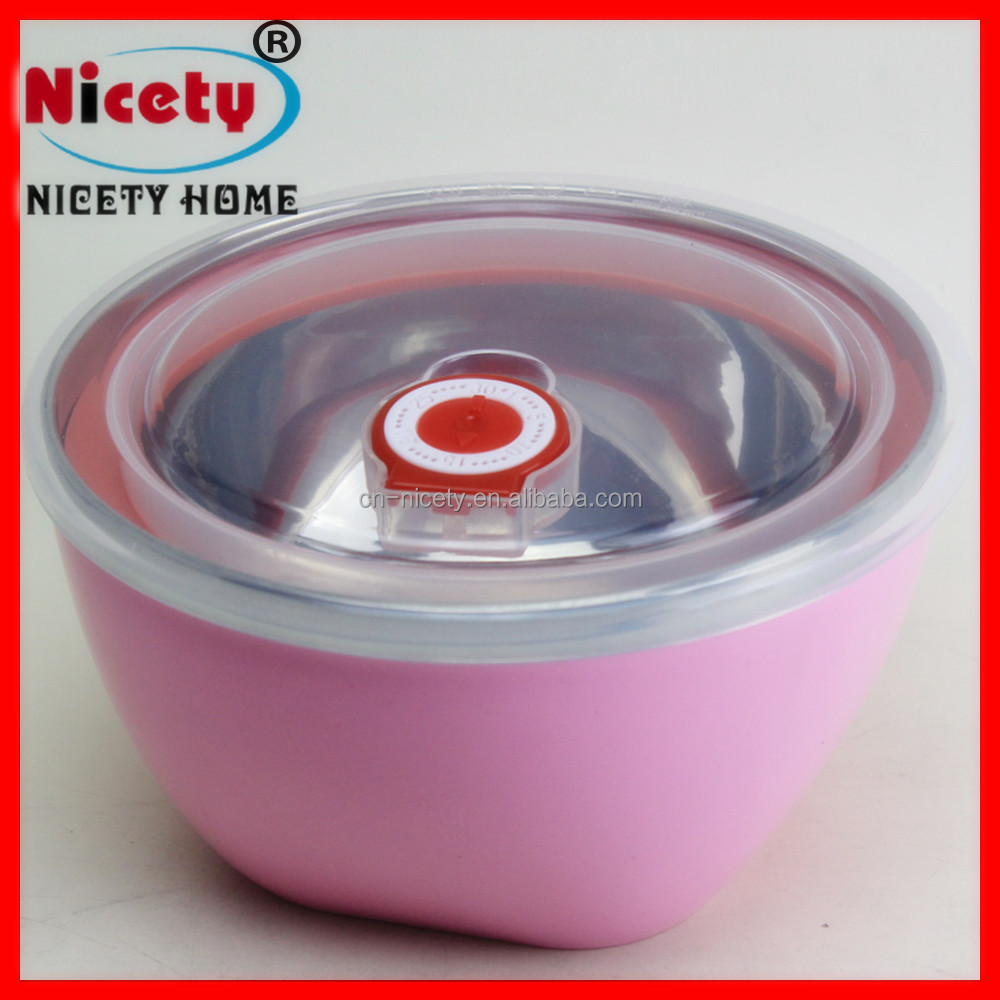 food grade round take-out vented plastic food container with lid