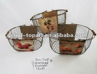 handmade decorative Metal Flower Basket