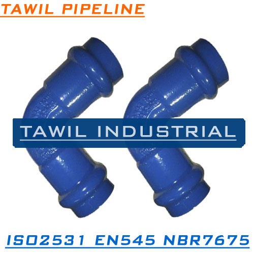 TAWIL ISO2531 Double socket 45 degree bend for PVC pipe
