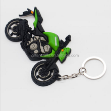 Rubber Keychain Key Chain Pendant For KAWASAKI Motorcycle Model Cool Keyring