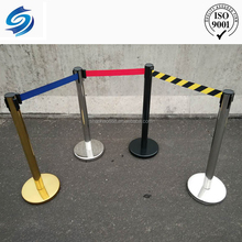 stanchion queue pole steel barrier