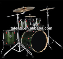 high grade 5-pc green wooden pattern drum set