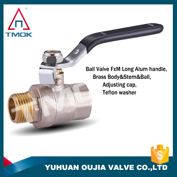 Has the characteristic of high rate and long black handle motorized ball valves