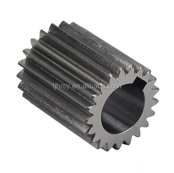 Steel spur pinion with keyway