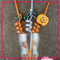 Assorted colors swirly plastic drinking straw for Halloween party