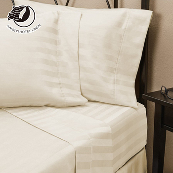 250TC/300TC/400TC Stripe Hotel Bedding Set 100% Cotton