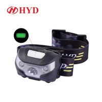 HYD80604 High power waterproof 5W fishing hunting mining running camping led headlamp rechargeable head lamp sensor headlamp