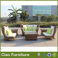 Unique Garden Sofa Set PE Rattan Outdoor Furniture