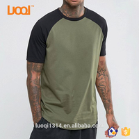 Guangzhou Luoqi Mens Baseball T shirt 3/ 4 Sleeve Men Gym Popular T-shirt