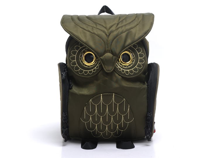 2016 Hot Sell Fashional Owl Shpaed Nylon Backpack Girl Backpack Leisure Backpack