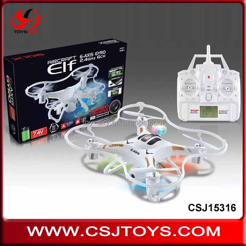 Hot toys 2.4G 6-Axis Quadcopter Kit frame protect RC Small photography drones with professional camera