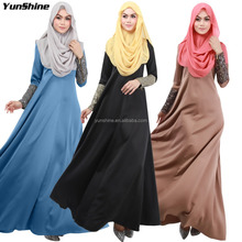 Abaya Fashion Style Elegant Dresses Muslim Women Clothing Plus Size Islamic Clothes Maxi Long Abaya Dress Arab Garment Malaysia
