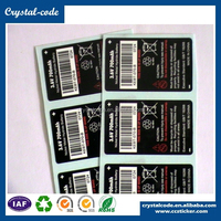 Printed self adhesive uv protection battery sticker