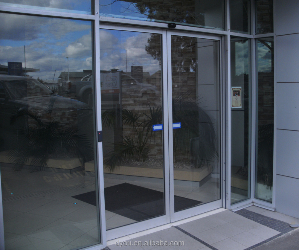 Factory price high quality fashionable aluminum commercial for Commercial glass doors