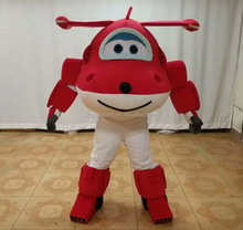 Factory direct sale airplane mascot costume for adults