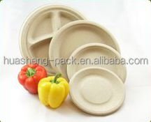 eco-friendly sugarcane biodegradable disposable tableware round plate
