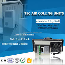 Thermoelectric TEC air conditioner for telecom battery cabinet