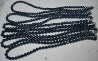 "16""5-6mm round facet loose natural sapphire strands"