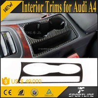 1PC/SET Real Carbon Fibre A4 Interior Trim Covers for Audi Q3 A4 A5 09-15