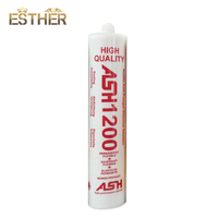 Acetic Anitfungal Waterproof Plastic Applicator Silicone Sealant 1200 For Glass Window Seal Installation