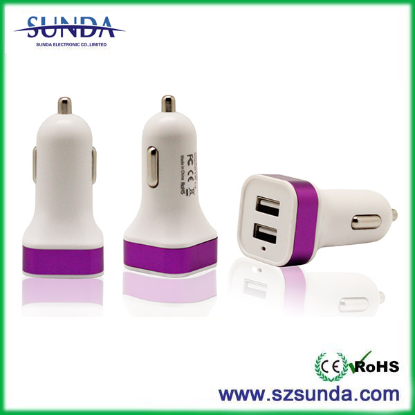 mini usb car charger 5V 3.1A mfi car charger