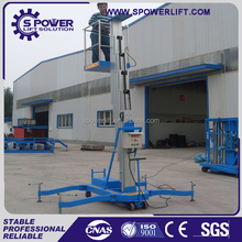 Low price high quality aluminum aerial working man lift platform/ mobile single mast man lift table
