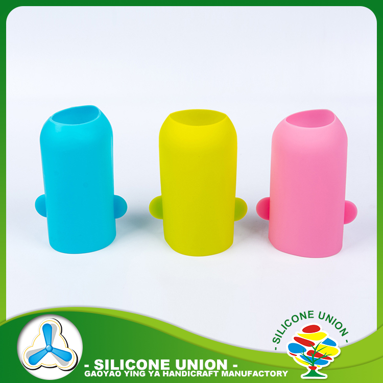 Heat resistant colorful different size accepted custom silicone rubber cup sleeve