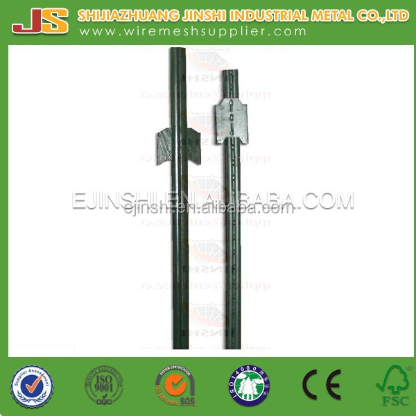 1.33lb/ft 8ft green painted without anchor heavy steel T stake