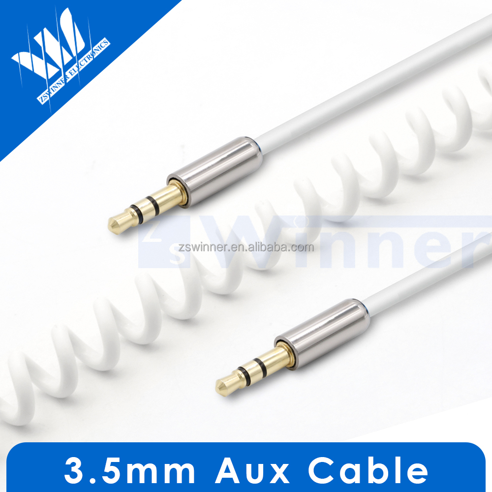 Aux 3.5mm Cable Black 3.5mm cable TRS TRRS Audio Cable