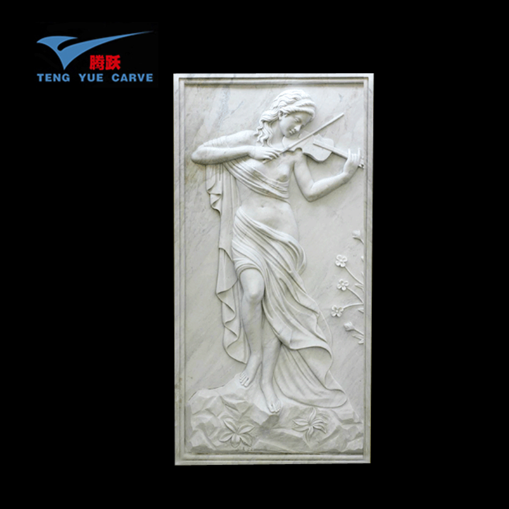 Hand Carved Decorative Wall Nude Woman Relief Sculptures