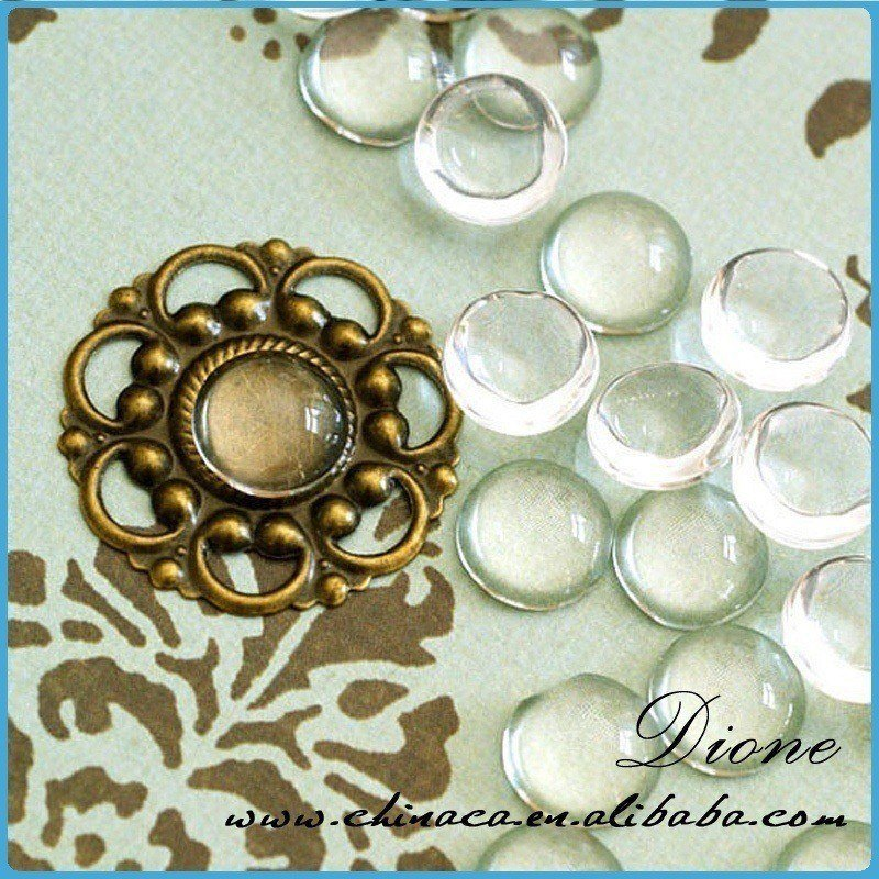 clear acrylic cabochons round