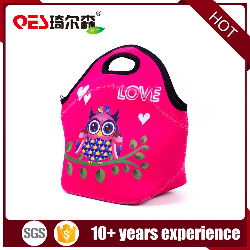 Colorful neoprene lunch bag boxes cooler lunch tote ice bag