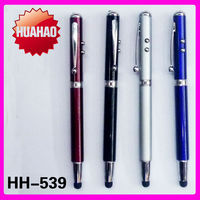 4 in 1 stylus pen with torch light laser point screen touch and ball pen
